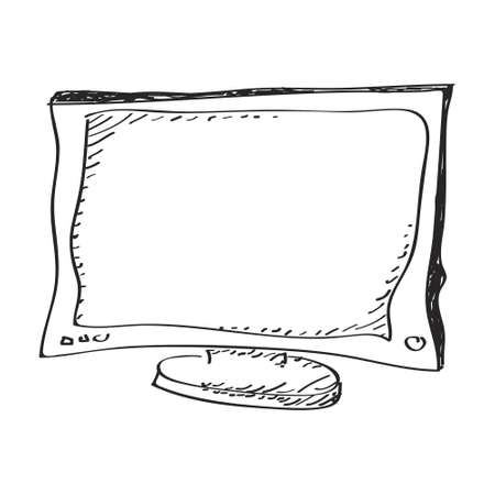 analogue: Simple hand drawn doodle of a television
