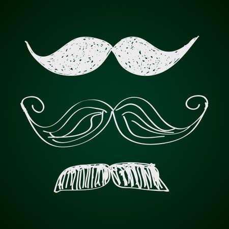 Simple hand drawn doodle of a moustache Illustration