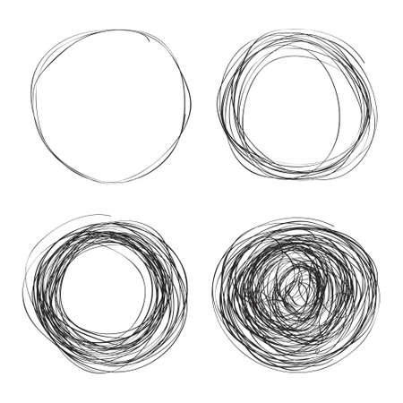 Simple hand drawn doodle of a circle Illustration