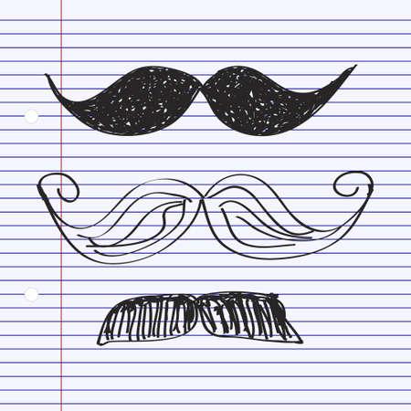 moustache: Simple hand drawn doodle of a moustache Illustration