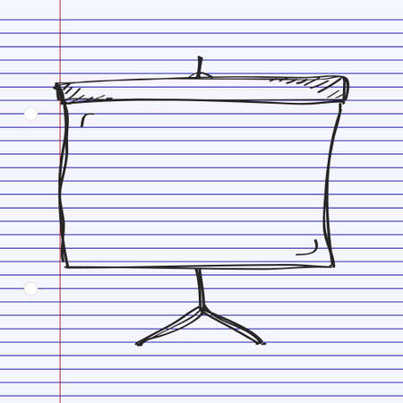 screen: Simple hand drawn doodle of a screen