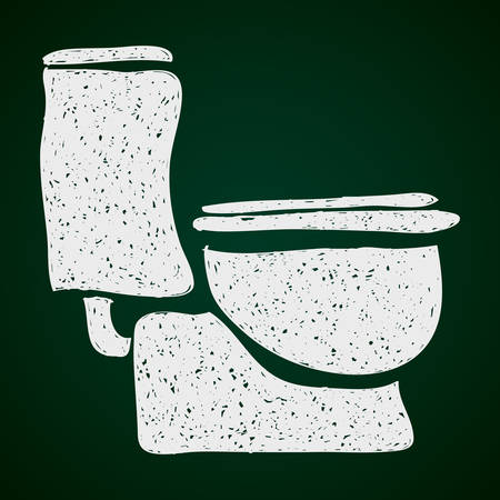 toilet paper art: Simple hand drawn doodle of a toilet