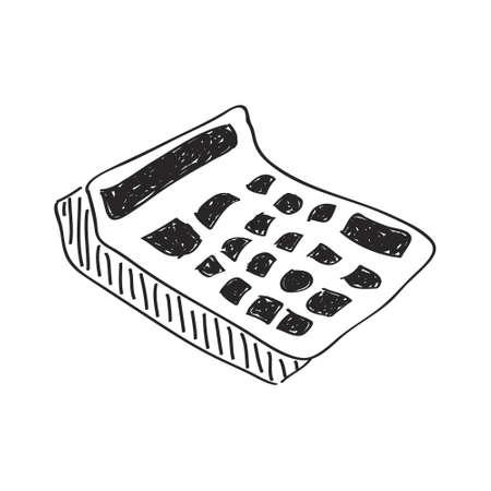 calculator: Simple hand drawn doodle of a calculator