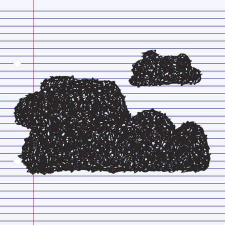 Simple hand drawn doodle of a cloud