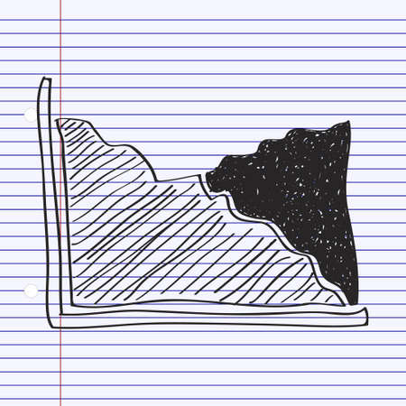 bullish: Simple hand drawn doodle of a graph