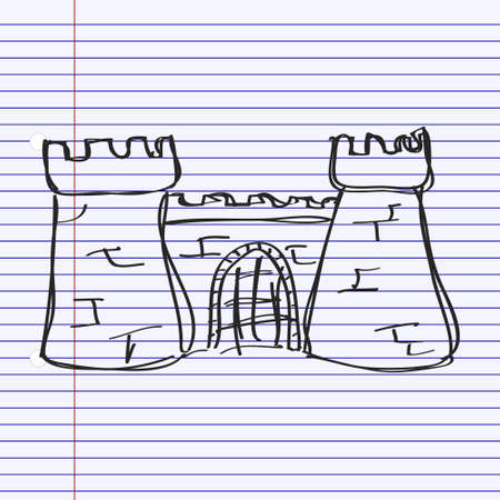 fort: Simple hand drawn doodle of a castle