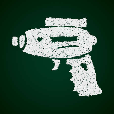 futuristic pistol: Simple hand drawn doodle of a space gun Illustration