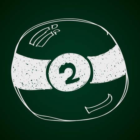 pool bola: Simple mano doodle de una bola de billar