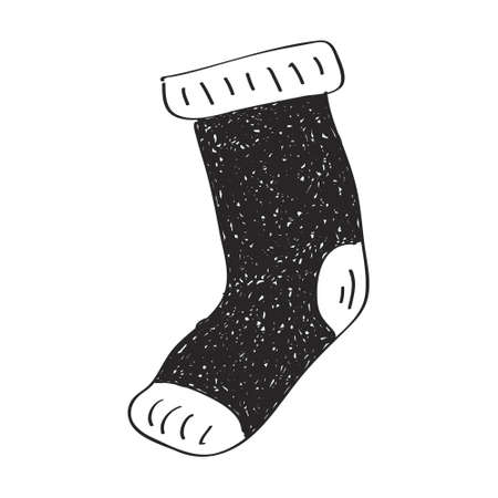 sock: Simple hand drawn doodle of a sock