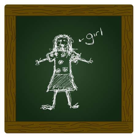 scruffy: scruffy doodle of a girl in a flowery top