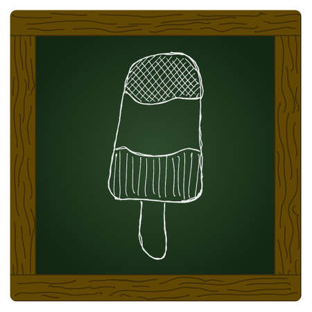ice lolly: Hand drawn illustration of an ice lolly