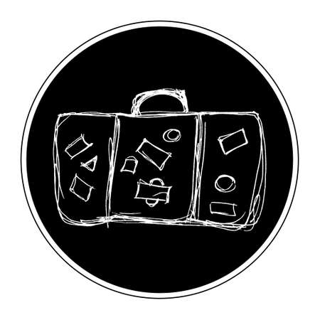 old suitcase: Hand drawn illustration of an old suitcase Illustration