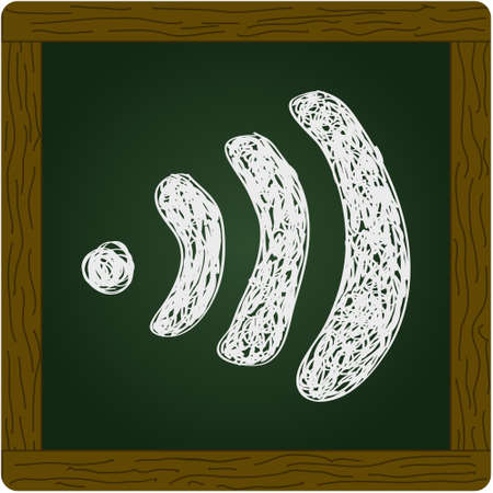 wireless icon: Simple hand drawn doodle of awifi symbol