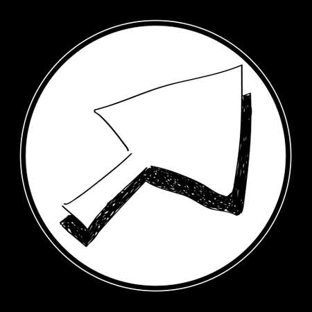 cursor arrow: Simple hand drawn doodle of a cursor arrow