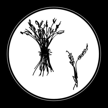 sheaf: Simple hand drawn doodle of a sheaf of wheat