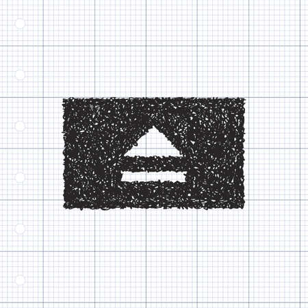 eject: Simple hand drawn doodle of an eject button