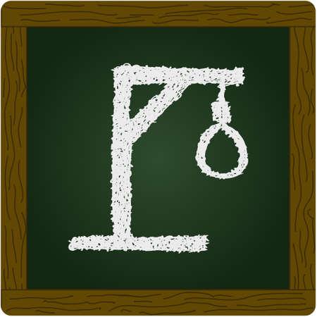 noose: Simple hand drawn doodle of a hangmans noose