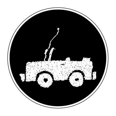 jeep: Simple hand drawn doodle of a jeep