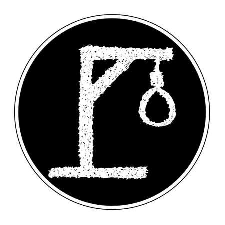 ahorcado: Simple bosquejo dibujado mano de una soga hangmans