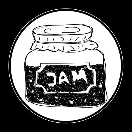 hand jam: Simple hand drawn doodle of a jam jar