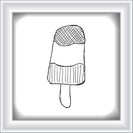 lolly: Hand drawn illustration of an ice lolly