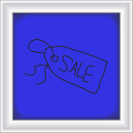 hand tag: Simple hand drawn doodle of a sale tag