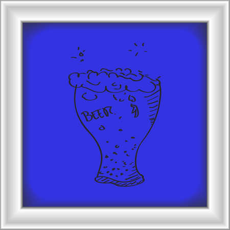 Simple hand drawn doodle of a beer glass Illustration