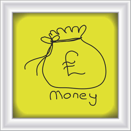 Simple hand drawn doodle of a money bag