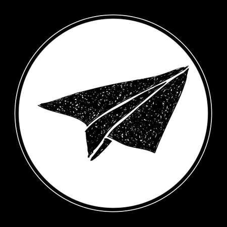 Simple hand drawn doodle of a paper aeroplane