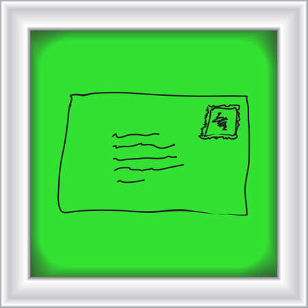 Simple hand drawn doodle of an envelope
