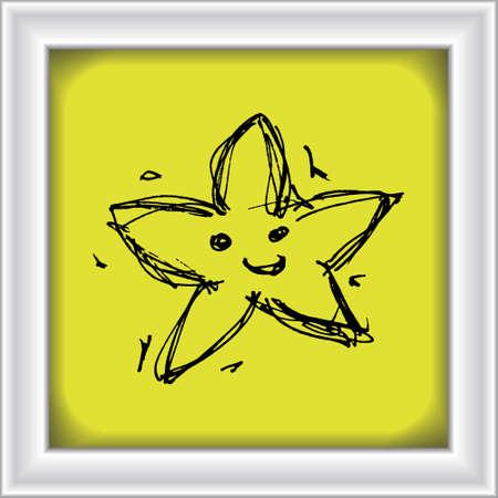 Hand drawn cartoon style star design