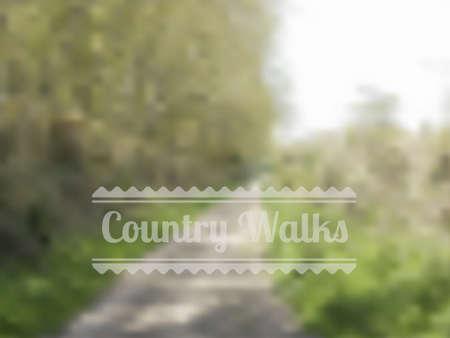 ramble: Bokeh style vector showing path through countyide