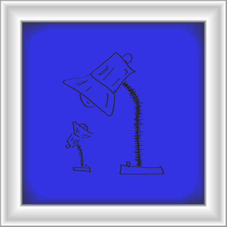 electricity post: Simple hand drawn doodle of a lamp