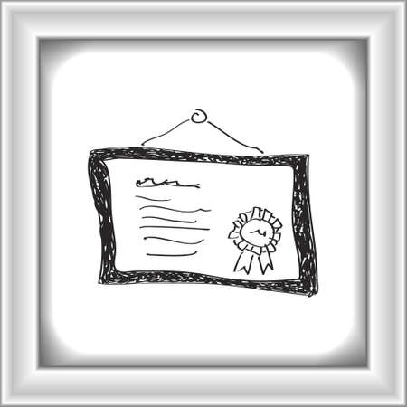 testament: Simple hand drawn doodle of a certificate