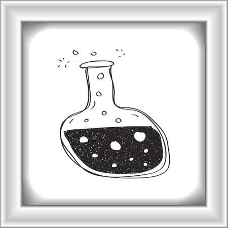 pocion: Simple mano doodle de una poci�n