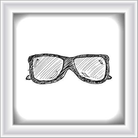 Hand drawn illustration of a pair of sunglasses Vetores