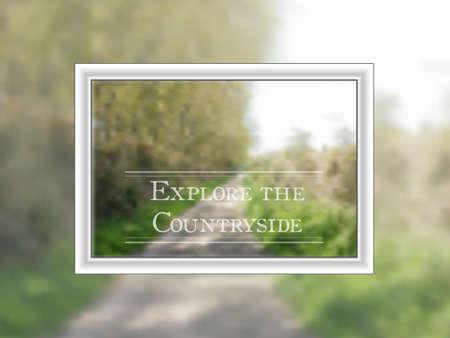 ramble: Bokeh style vector showing path through countyide in a frame