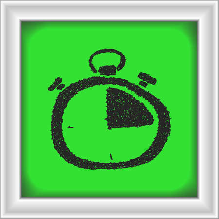 quick drawing: Simple hand drawn doodle of a stopwatch Illustration