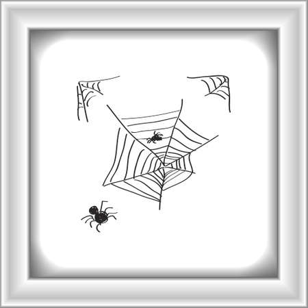 spider's web: Simple hand drawn doodle of a spiders web