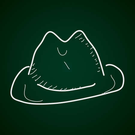 stetson: Simple hand drawn doodle of a cowboy hat Illustration