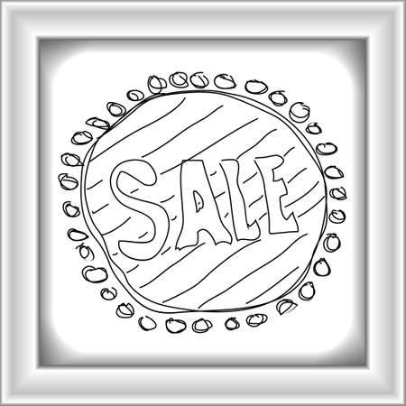 hand tag: Simple hand drawn doodle of a sale tag design Illustration