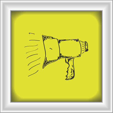 communicate  isolated: Simple hand drawn doodle of a megaphone