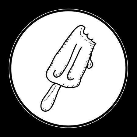 quick drawing: Simple hand drawn doodle of a ice lolly Illustration