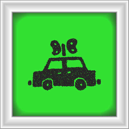 fume: Simple hand drawn doodle of a cloackwork car Illustration