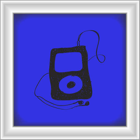 mp3 player: Simple hand drawn doodle of an mp3 player Illustration