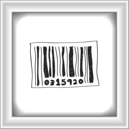 codigo barras: Simple bosquejo dibujado mano de un c�digo de barras