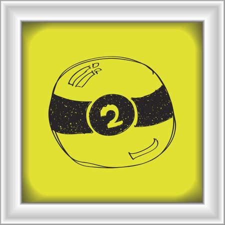 bola de billar: Simple mano doodle de una bola de billar