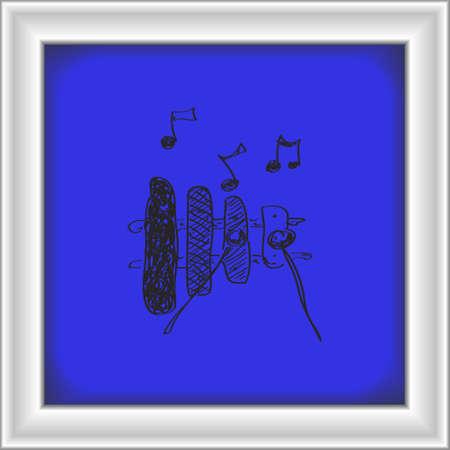 xilofono: Simple mano doodle de un xil�fono