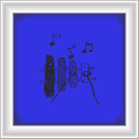 xilofono: Simple mano doodle de un xilófono
