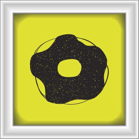 doughnut: Simple hand drawn doodle of a doughnut